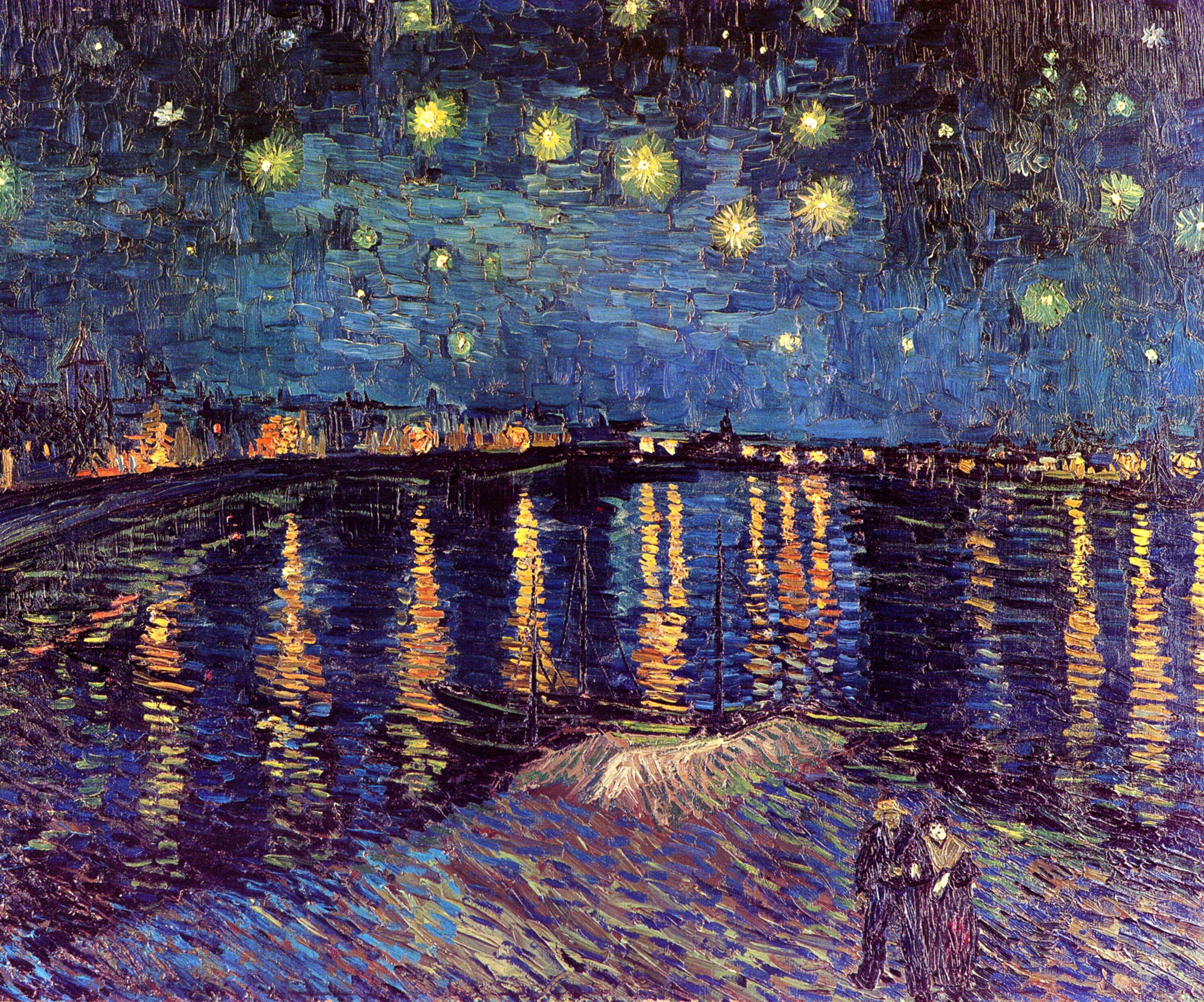 Винсент Ван Гог «Звездная ночь» (Звездная ночь над Роной)