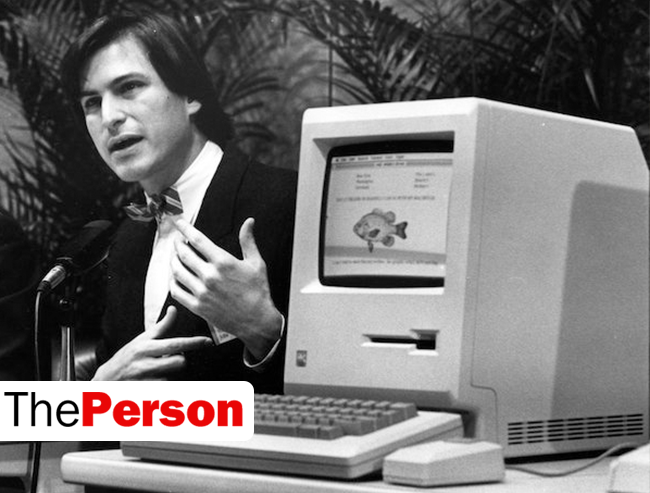 Джобс на презентации первого Macintosh
