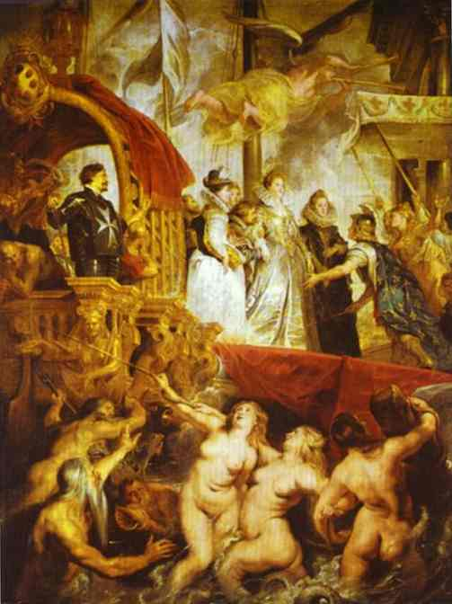 Прибытие Марии Медичи в Марсель Питер Пауль Рубенс