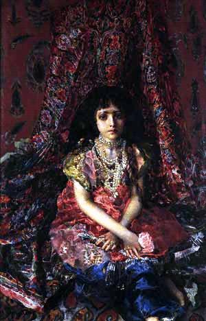 Девочка на фоне персидского ковра, 1886