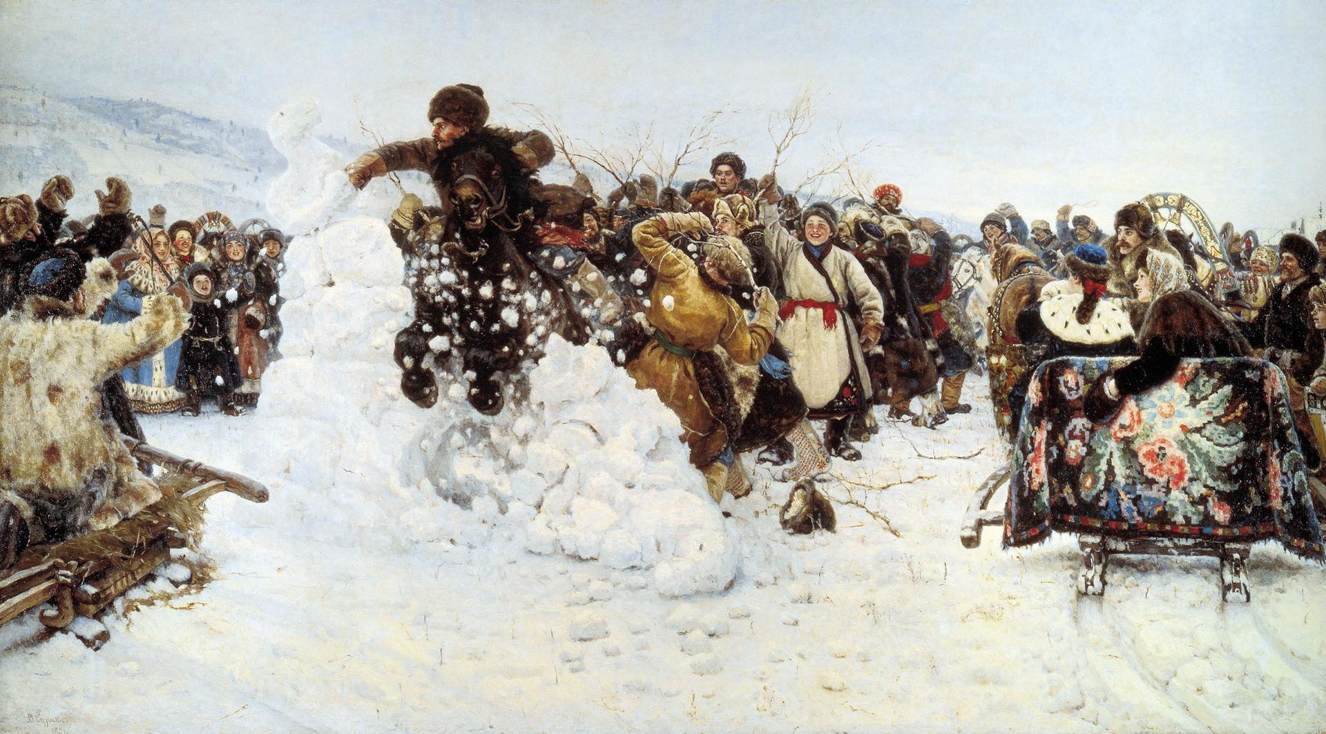 Взятие снежного городка, Суриков, 1891